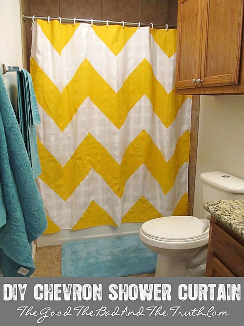 DIY Chevron Shower Curtain