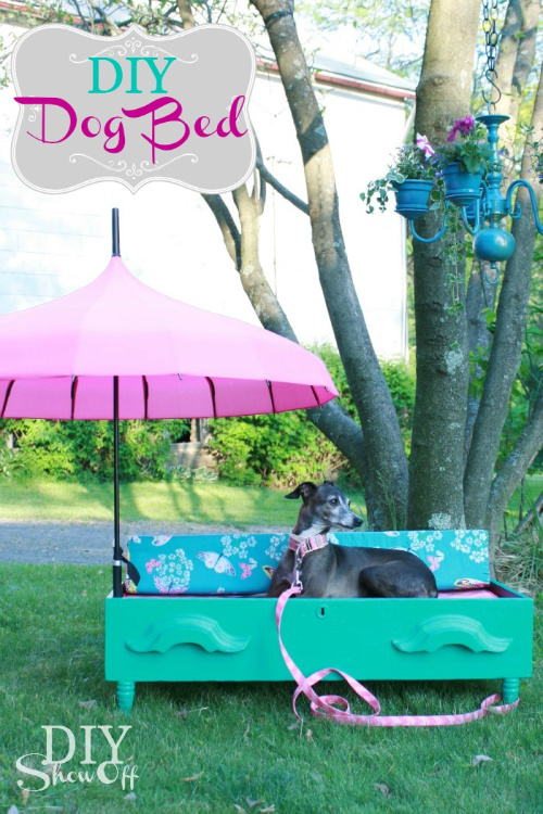 Upcycled Dresser DIY Pet Bed- If you have an old dresser, it could be turned into something new, useful, and beautiful! For inspiration, check out these 12 clever ways to repurpose an old dresser! | DIY furniture makeover, upcycle a dresser, #repurpose #upcycle #furniture #DIYProject #ACultivatedNest