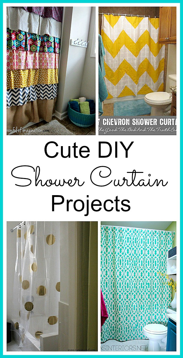 DIY Shower Curtain Projects anyone can make