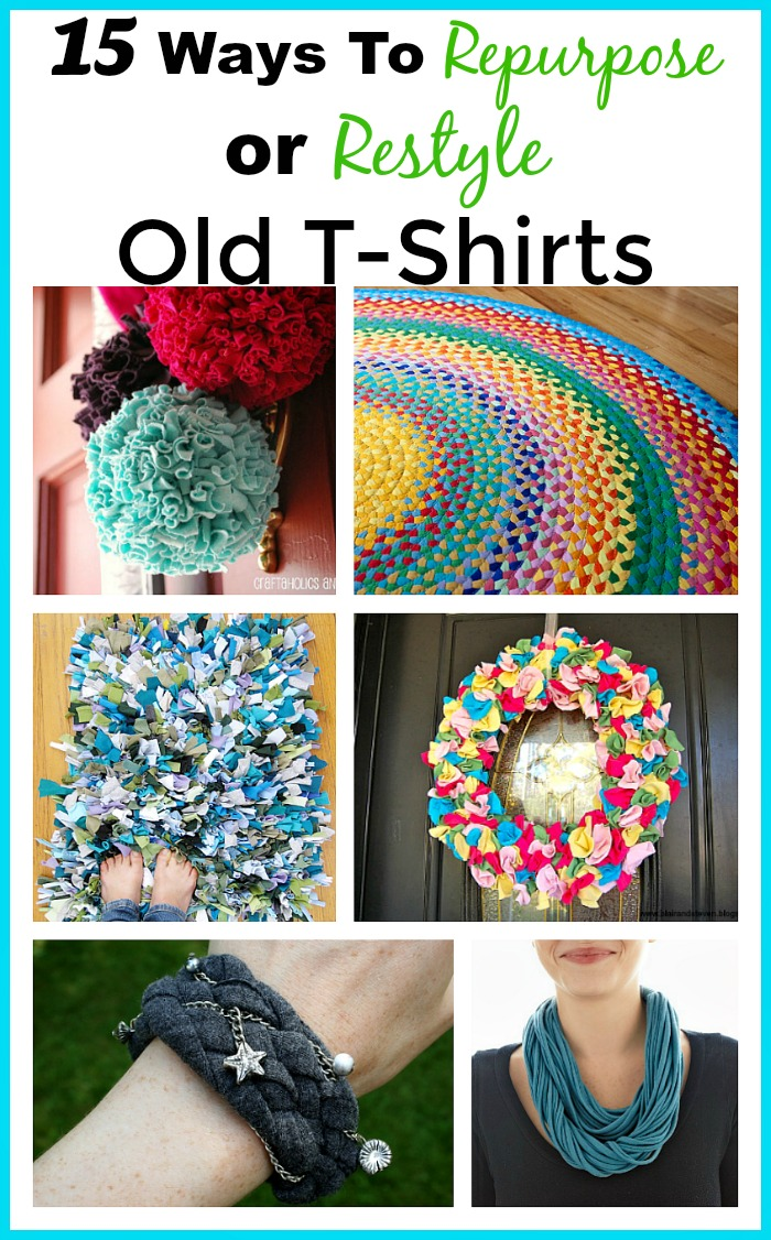 How To Repurpose Old T-Shirts