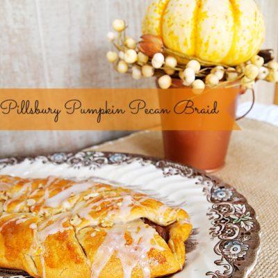 Pillsbury pecan pumpkin braid