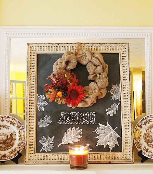 Woodwick Candle & Fall Chalkboard Art