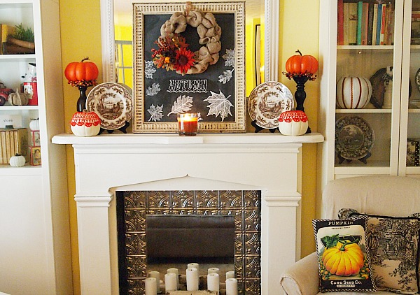 A Cultivated Nest Fall Mantel