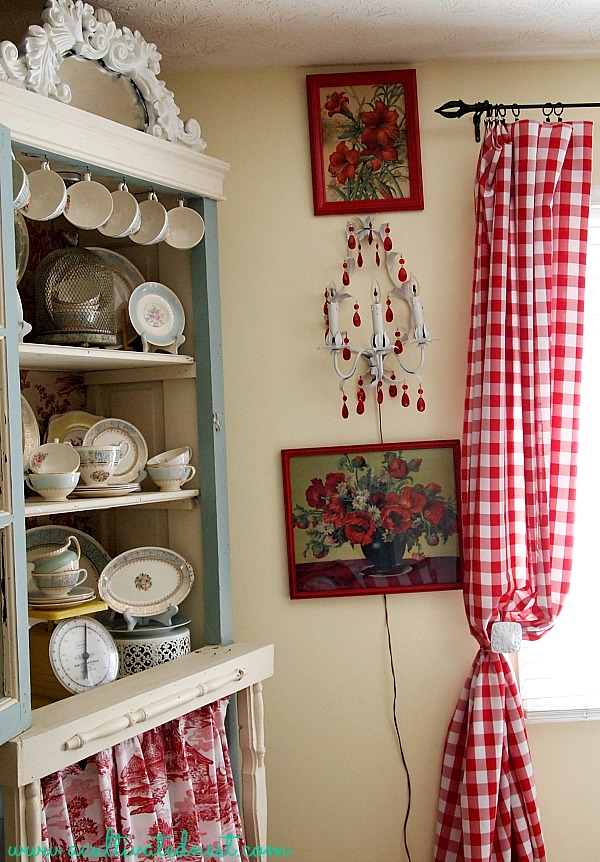 $20 red buffalo check curtains from a surprising source!