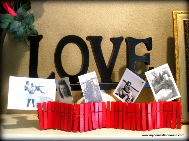clothespin photo holder