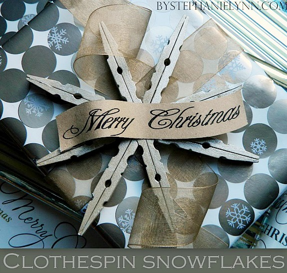 clothespin snowflake ornament by Stephanie Lynn
