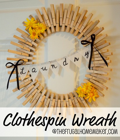 clothespin wreath from The Frugal Homemaker