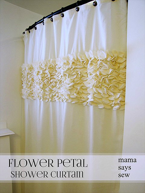 diy flower petal shower curtain