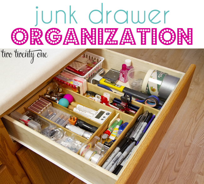 junk drawer organizaition