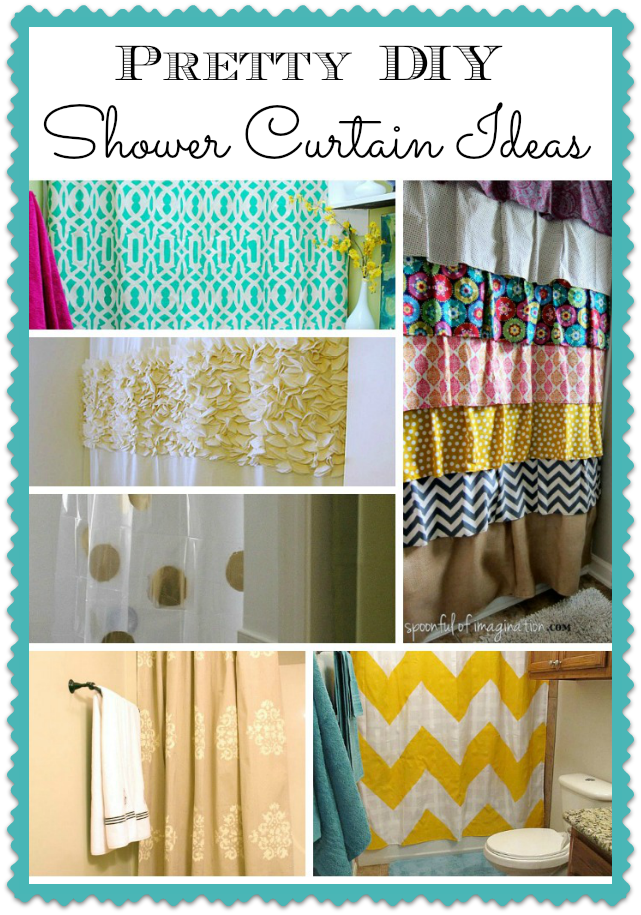 easy & pretty diy shower curtain ideas that anyone could make