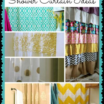 easy diy shower curtain ideas