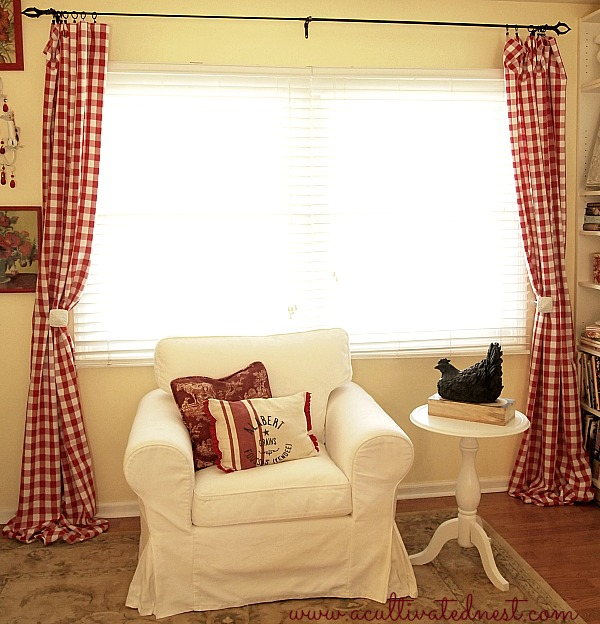 ... My Living Room! Quick U0026 Easy DIY Curtains. No Sewing! These Red Buffalo  Check Curtains Were $20 Part 76