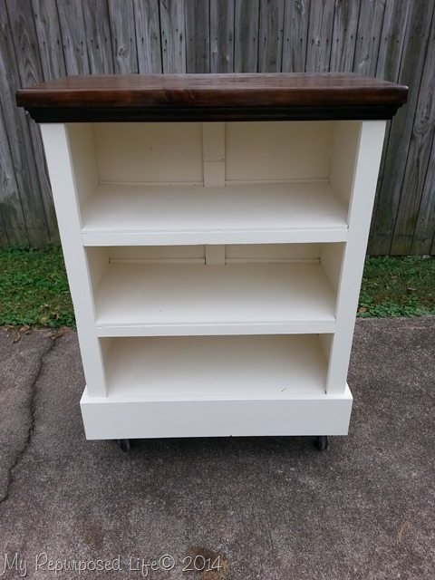 Bookshelf from an Upcycled Dresser- If you have an old dresser, it could be turned into something new, useful, and beautiful! For inspiration, check out these 12 clever ways to repurpose an old dresser! | DIY furniture makeover, upcycle a dresser, #repurpose #upcycle #furniture #DIYProject #ACultivatedNest
