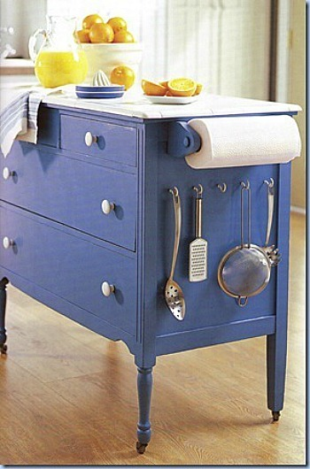 Repurposed Antique Dresser As A Kitchen Island With A: 10 Clever Ways To Repurpose A Dresser