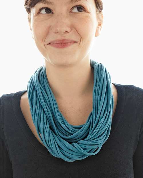 Repurposed t-shirts made into a necklace - How To Repurpose Old T-Shirts