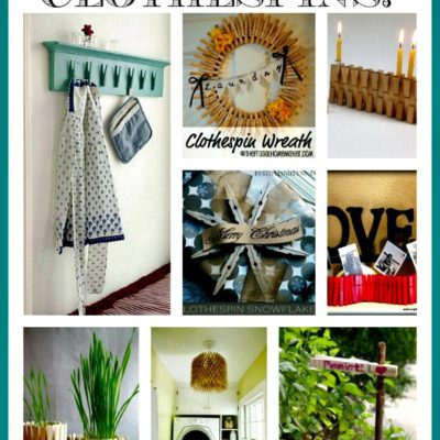 Ideas to upcycle and repurpose clothespins