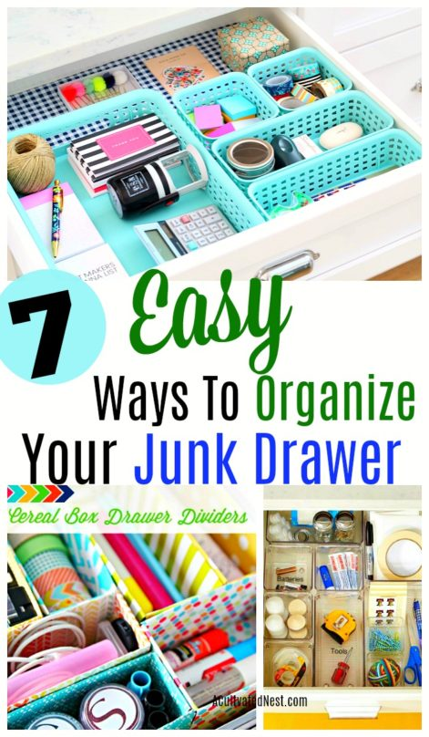 Easy Junk Drawer Organization Ideas. Sometimes the most disorganized area of a home is also the smallest. I'm talking about the junk drawer! #organization #drawerorganization #kitchenorganization #organizedhome #homemaking