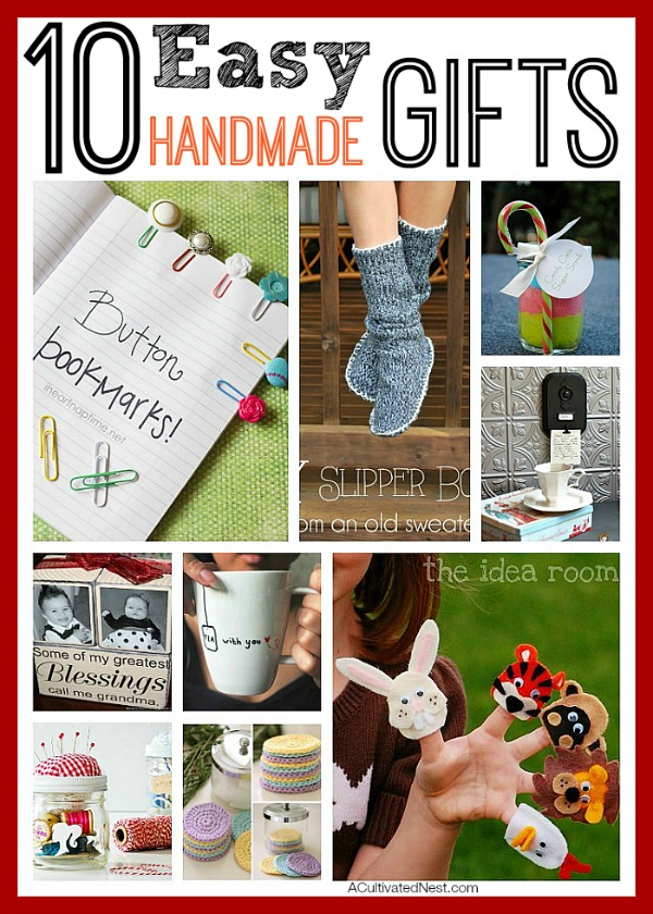 10 easy handmade gifts want to save money this holiday season then be frugal - Easy Christmas Gifts To Make