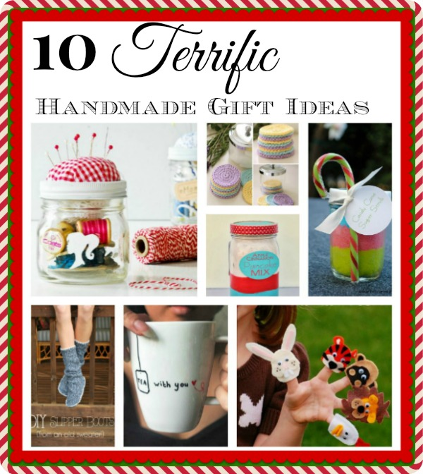 10 Easy Handmade Gifts- DIY Christmas Gift Ideas