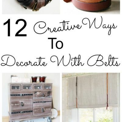 12 Creative Ways to Decorate with Belts