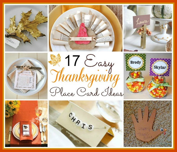 17 Easy Diy Thanksgiving Place Card Ideas