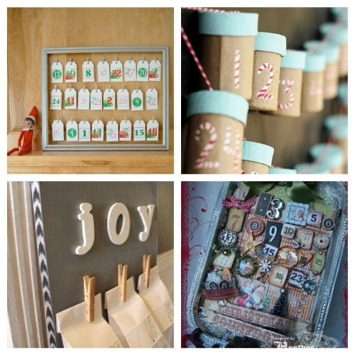 20 Fantastic Advent Calendar Crafts- Here are 20 handmade ways to count down to Christmas! Use these easy DIY advent calendars to celebrate the holiday season in style! | Christmas DIY projects, homemade Christmas crafts, #adventCalendars #Christmas #ChristmasCrafts #ChristmasDIYs #ACultivatedNest