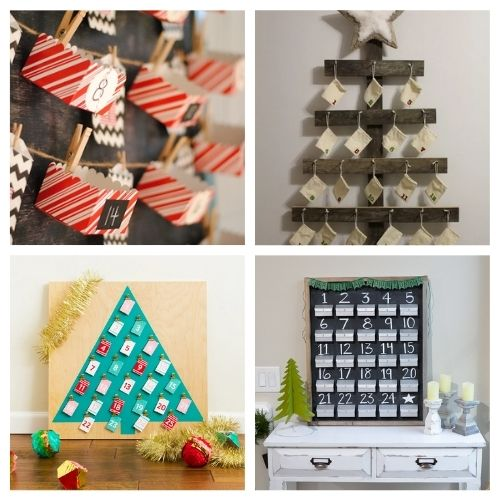 20 Fantastic Homemade Advent Calendars- Here are 20 handmade ways to count down to Christmas! Use these easy DIY advent calendars to celebrate the holiday season in style! | Christmas DIY projects, homemade Christmas crafts, #adventCalendars #Christmas #ChristmasCrafts #ChristmasDIYs #ACultivatedNest