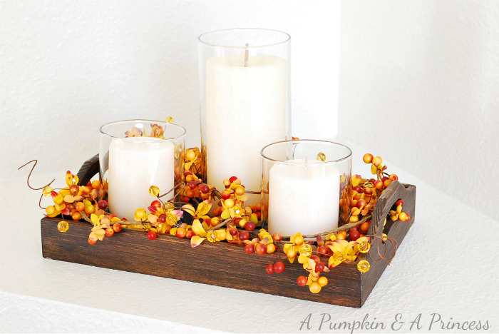 DIY Thanksgiving Candle Displays- Make your Thanksgiving table or buffet more festive on a budget with these 15 gorgeous DIY Thanksgiving candle display ideas! | #Thanksgiving #diyCandles #DIY #ThanksgivingCrafts #ACultivatedNest