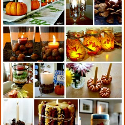 15 Easy & Pretty Thanksgiving candle centerpiece ideas