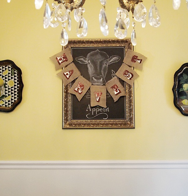 burlap Thanksgiving bunting