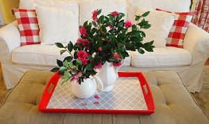 A Simple Pleasure – Fresh Cut Camellias From The Garden
