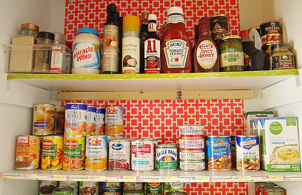 pantry organized by condiments