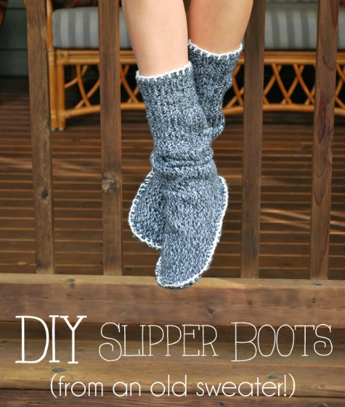 diy slipper boots