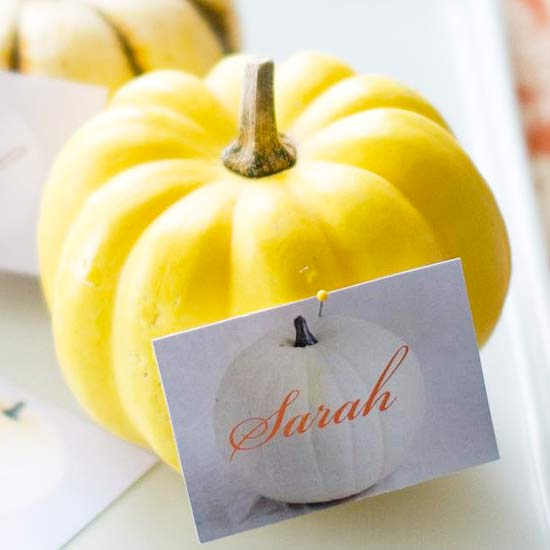 minature-pumpkin-place-card