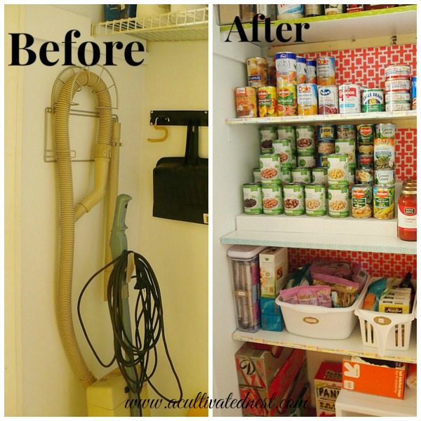 pantry makeover & organization