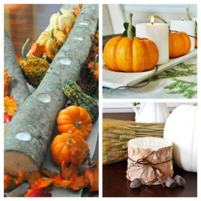Simple & Pretty Thanksgiving Candle Ideas