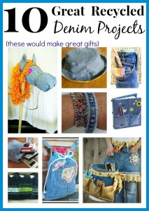 10 New Ways to Upcycle Old Jeans Into Great Gifts!