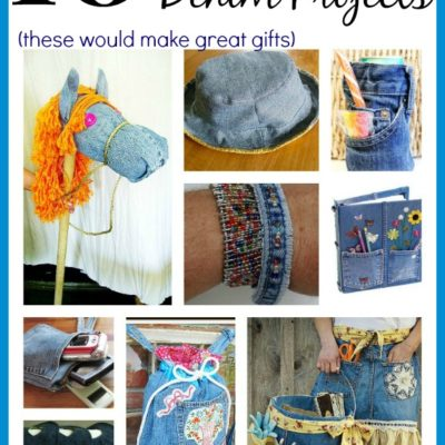 10 Ways to recycle old jeans - all of these ideas would make great gifts