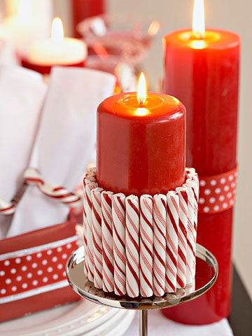 Beautiful-Christmas-Candy-Decoration-Candy-Cane-Candle-Cuff