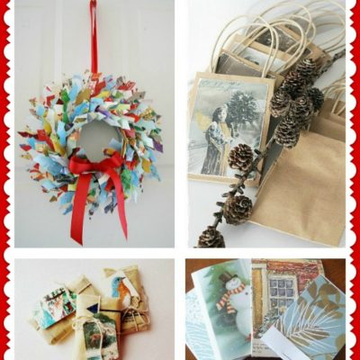 Some great ideas for recycling your Christmas cards!