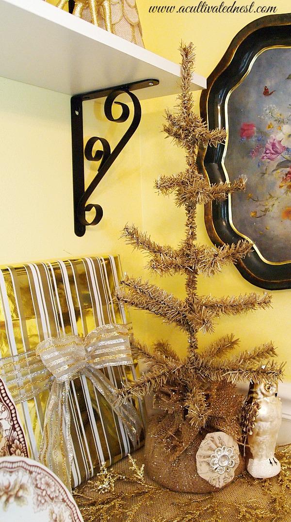 bronze bottle brush Christmas Tree