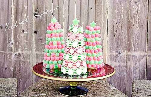 Christmas candy trees
