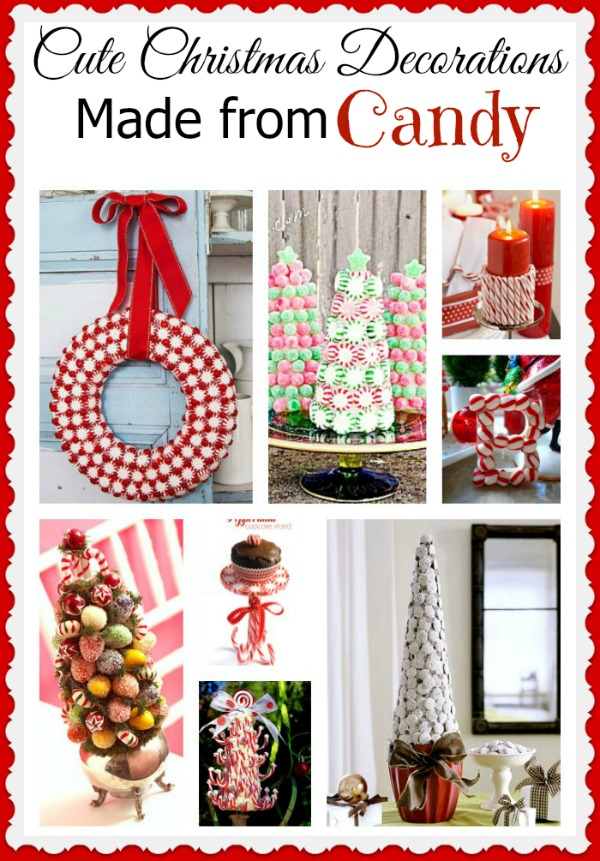 Clever Christmas decorations made from candy. This is a great activity to do with the kids too!