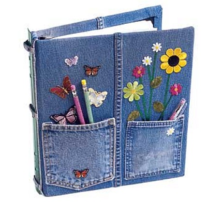upcycled denim-notebook-cover