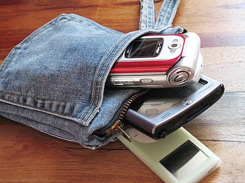 denim phone or ipod carrier
