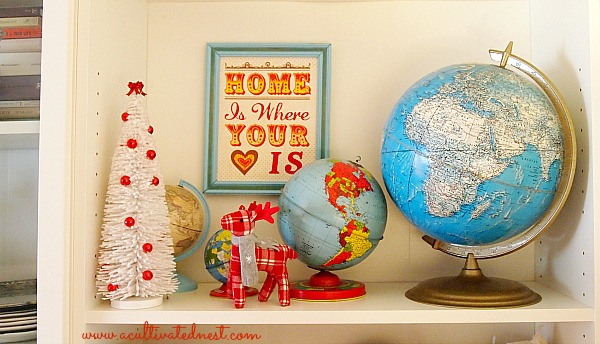 Home is where your heart is print and bottle brush tree