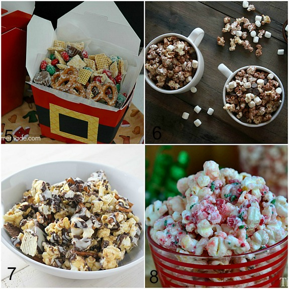 Homemade Popcorn Christmas Food Gifts- Homemade gifts don't just have to be DIY crafts! This year, give the gift of a delicious treat with these homemade edible Christmas gifts! | diy gift, handmade gift, homemade gift ideas, desserts, recipes, #Christmas #foodGift #ACultivatedNest