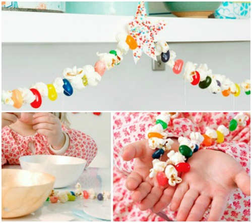 popcorn jellybean Christmas garland
