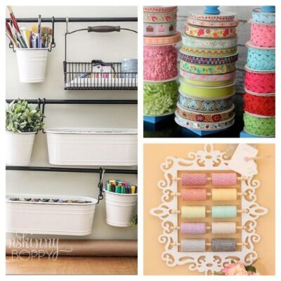 Cute Craft Organization Ideas - A collection of cute craft organization ideas - many of them are using common objects in new ways. Your craft room will be looking amazing with these ideas. | #ACultivatedNest