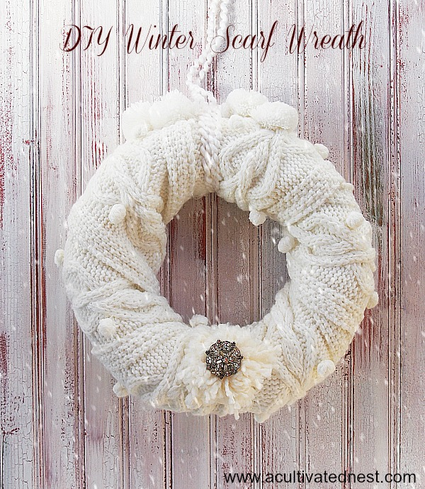 Easy DIY Winter Scarf Wreath